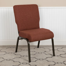 Advantage Auditorium Chair - Stacking Padded Chair - 20.5inch Wide Seat - Cinnamon Fabric/Gold Vein Frame