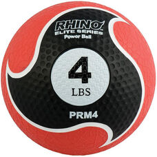 4 lbs. Rhino Elite Medicine Ball in Red