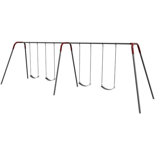 Our Four Seat Modern Bipod Swing Set with Galvanized Swing Chains and Thirteen Gauge Steel Frame - 96