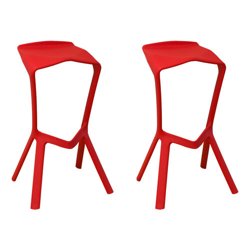 Our Aspect Ultra Modern Outdoor Red Barstool - Set of 2 is on sale now.