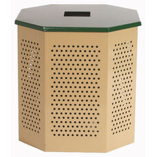 Thermoplastic Finished Steel Flat Top Lid for Outdoor Heavy Duty Waste Receptacles