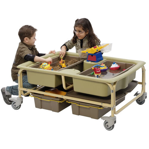 Our Sand and Water Sensory Learning Center with Storage Tubs - Lids Included is on sale now.