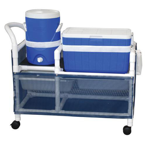Our Hydration Cart with 48 Quart Ice Chest and 5 Gallon Water Cooler with Casters - 20