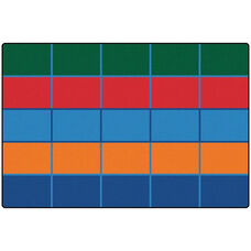 Kids Value Color Blocks Value Seating Rectangular Nylon Rug - 72''W x 108''D