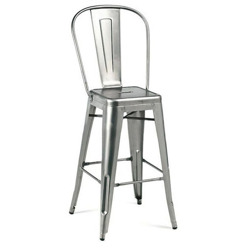 Our Dreux Gunmetal High Back Steel Counter Stool - Set of 4 is on sale now.