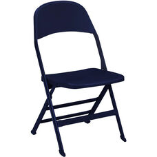 2000 Series All Steel Folding Chair with B Back Style in Navy