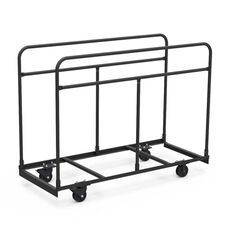 Quick Ship Round Folding Table Truck - 30''W x 72''D x 55''H