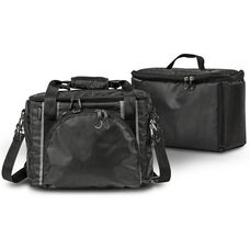 Zippered Business Case with One Cooler Bag - Black and Gray