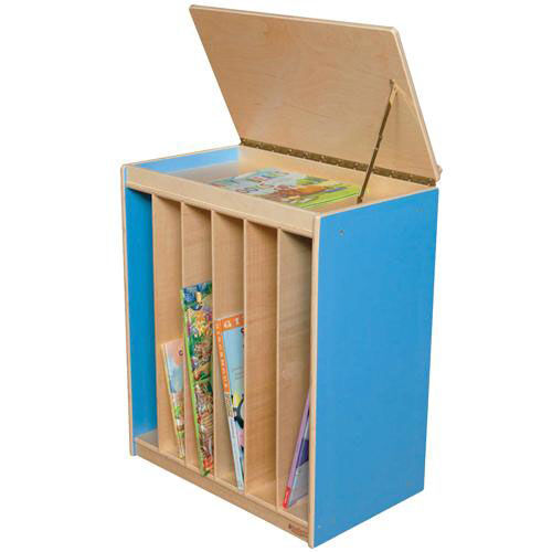 ... Our Blueberry Big Book Display And Storage With Locking Piano Hinged  Top With Marker Board On ...