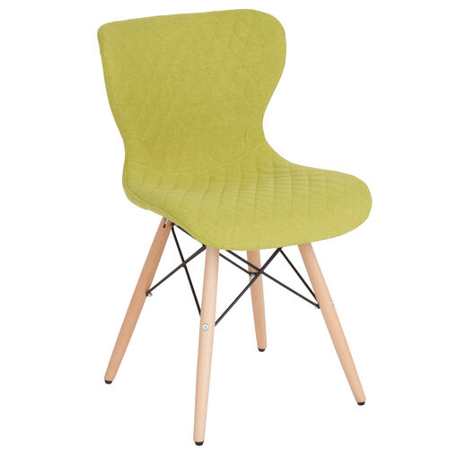 Our Riverside Contemporary Upholstered Chair with Wooden Legs in Citrus Green Fabric is on sale now.