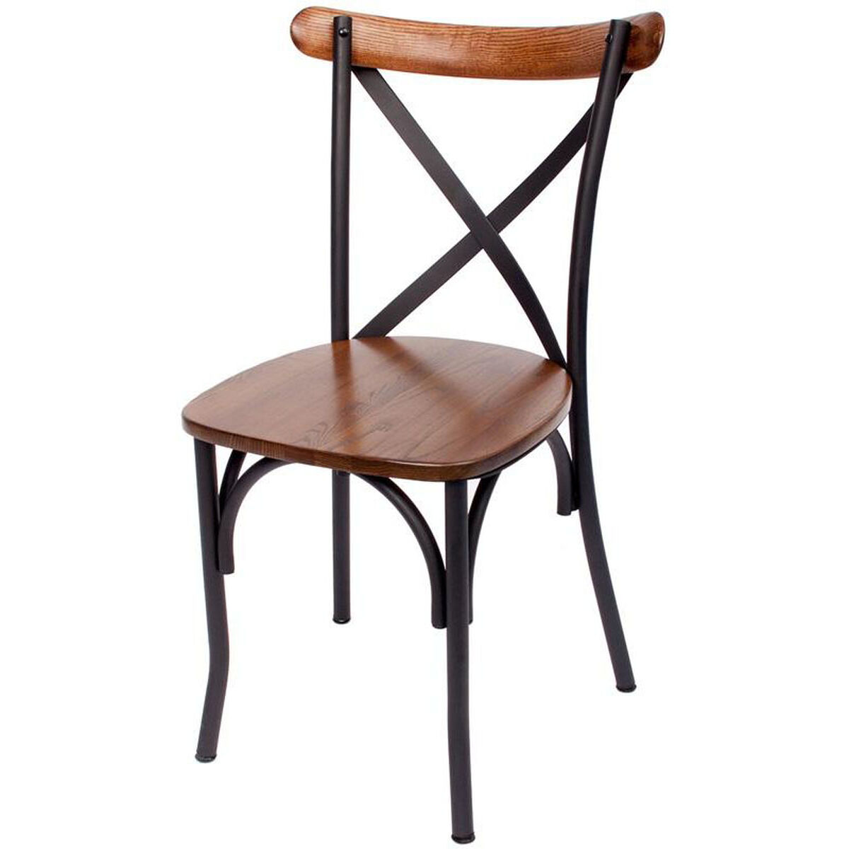 Our Henry Metal Cross Back Side Chair Autumn Ash Wood Seat Is On Now