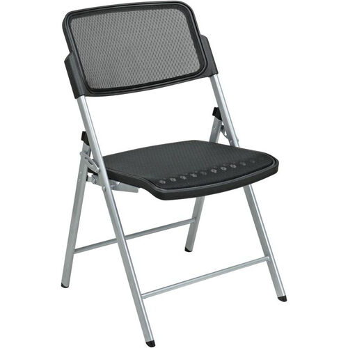 Our Pro-Line II Deluxe ProGrid® Mesh Seat and Back Folding Chair with 400 lb Weight Capacity and Silver Frame - Set of 2 - Black is on sale now.