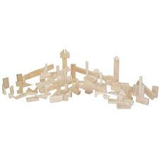 Nursery Set of Ninety Three Multi-Shaped Hard Maple Wood Blocks