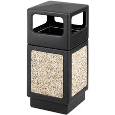 Canmeleon™ 38 Gallon Indoor or Outdoor Aggregate Side Open Receptacle - Black