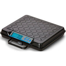 Steel Portable Bench Scale with Built in Handle and LED Display - 100 lb Capacity