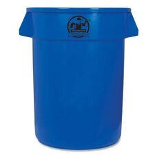 Genuine Joe Trash Containers - Heavy -duty - 32 Gallon - Blue