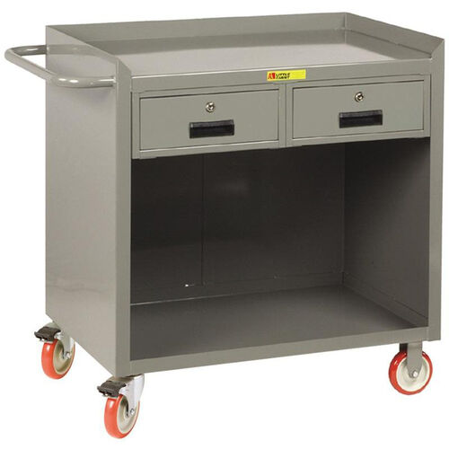 Our Mobile 2 Drawer Bench Cabinet with Open Storage - 24