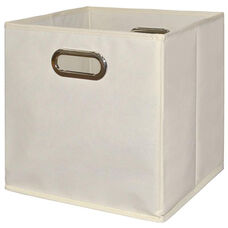 Niche Cubo Foldable Fabric Storage Bins with Handle - Beige