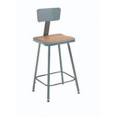 Steel Adjustable Hardboard Square Seat With Backrest - 23-33