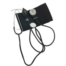 Home Blood Pressure Kit with Attached Stethoscope - Latex Free