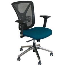 Fermata Executive Mesh Chair with Aluminum Base - Iris Fabric