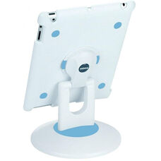 ViewStation for iPad 2 - White Shell with White and Blue Base