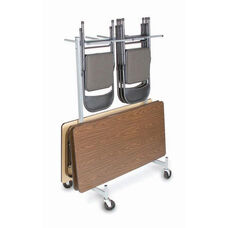 Compact Size Hanging Folded Chair and Table Storage Truck - 74