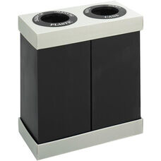 At-Your-Disposal® Double 28 Gallon Bin Recycling Center - Black and Gray