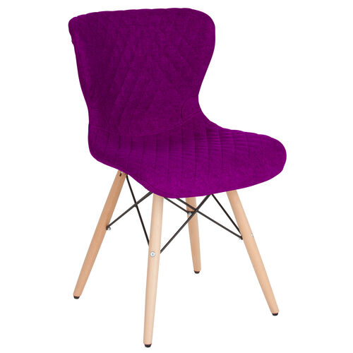 Our Riverside Contemporary Upholstered Chair with Wooden Legs in Purple Fabric is on sale now.