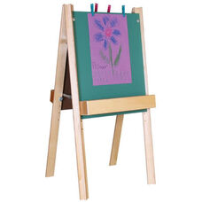 Deluxe Two Sided Foldable Chalkboard Easel with Solid Birch Plywood Legs and Trays - 26