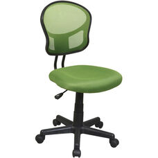OSP Design Mesh Task Office Chair with Seat Heigh Adjustment and Casters - Green