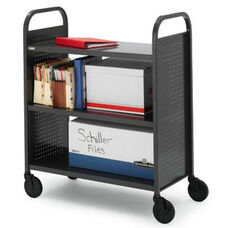 Voyager Flat Shelf Mobile Book & Utility Truck - 36