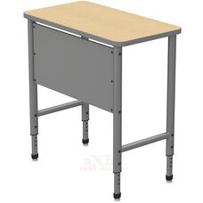 Apex Series Height Adjustable Stand Up Desk with PVC Edge - Sand Shoal Top with Gray Edge and Legs - 36