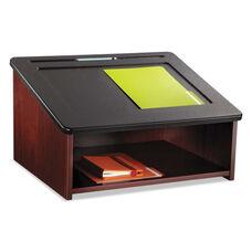 Safco® Tabletop Lectern - 24w x 20d x 13-3/4h - Mahogany/Black