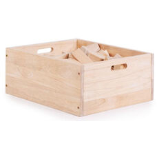 My First Block Box Rubberwood Block Set with Rounded Edges - 34 Piece Set