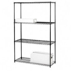 Lorell 4 Tier Wire Rack Shelving
