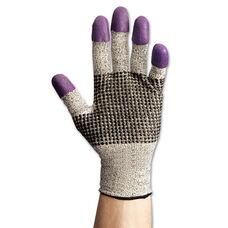 Jackson Safety G60 Purple Nitrile Gloves - Large/Size 9 - Black/White - Pair