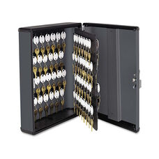 SteelMaster® Security Key Cabinets - 90-Key - Steel - Charcoal Gray - 12 x 4 1/4 x 14 3/4