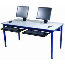 Adjustable Height Computer Work Station with Laminate Top - 36