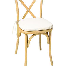 Sonoma Crossback X02 Chair Burlap Cushion - Ivory