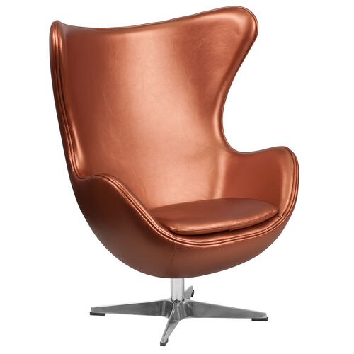 Copper LeatherSoft Egg Chair with Tilt-Lock Mechanism