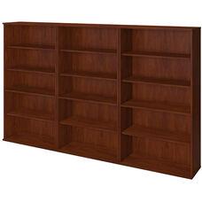 66H Bookcase Storage Wall - Hansen Cherry