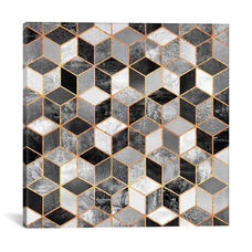 Black And White Cubes by Elisabeth Fredriksson Gallery Wrapped Canvas Artwork
