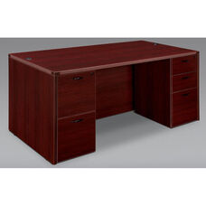 Fairplex Executive Desk - Mahogany