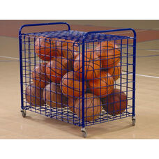 25 Ball Mobile Metal Frame Locking Security Cart - Blue - 24