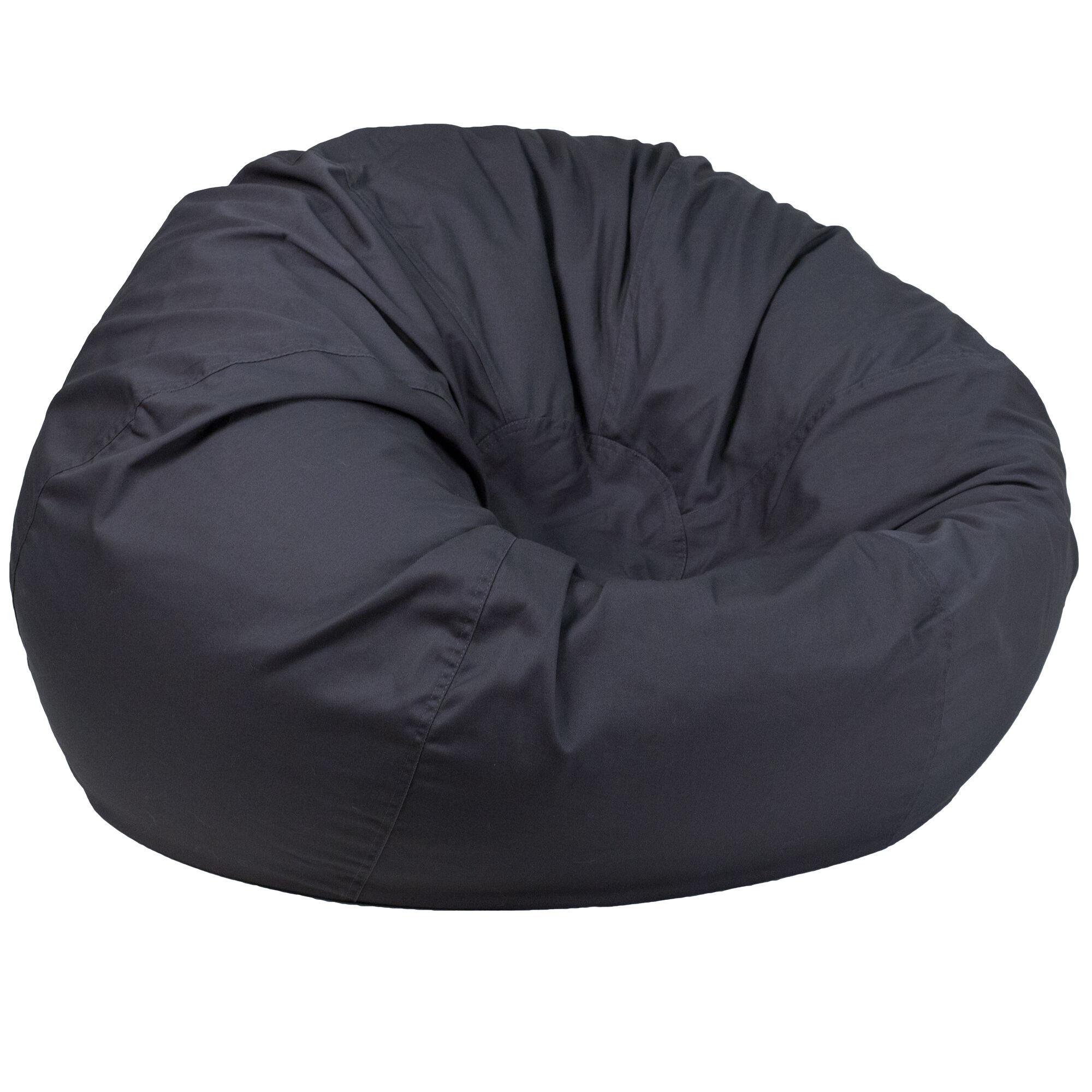 Gray Bean Bag Chair Dg Bean Large Solid Gy Gg