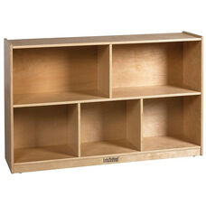 Birch 30''H Storage Cabinet with Five 12'' Deep Compartments - Natural Finish