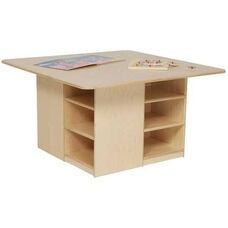 Healthy Kids Plywood Cubbie Table with Storage Underneath - Assembled - 36
