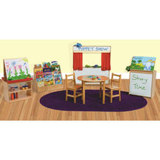 Classroom Healthy Kids Plywood Literacy Package with Tuff-Gloss UV Finish - Set of 6