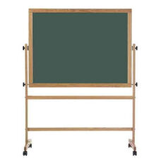 Double-Sided Composition Chalkboard with Wood Trim - 42''H x 60''W